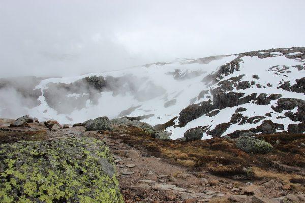 Climat sur le chemin de randonnée du Kjeragbolten