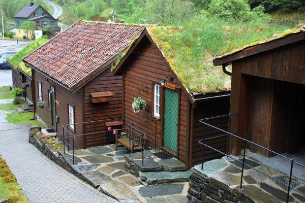 Les petites maisons indépendantes de l'hôtel L'hôtel Byrkjedalstunet en Norvège