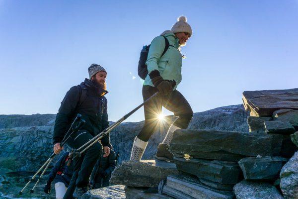 L'accès au rocher Kjerag accompagné d'un guide