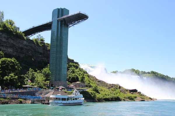 La passerelle au-dessus des chutes de Niagara, côté américain