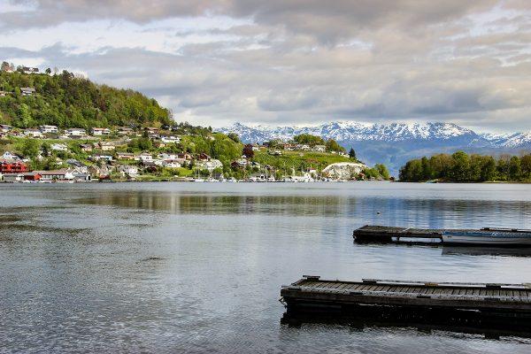 La vue sur le fjord depuis Norheimsund