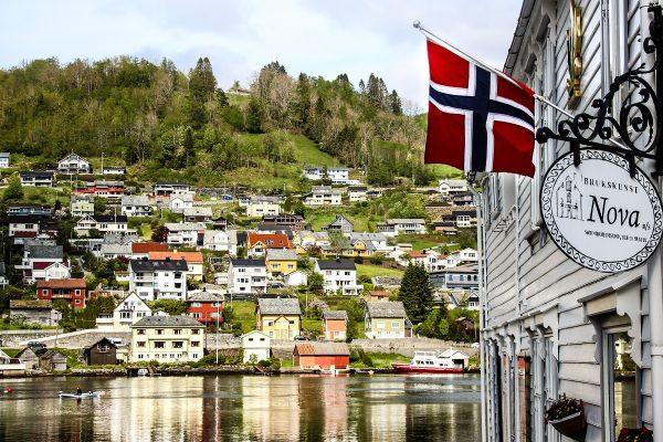 La ville de Norheimsund en Norvège