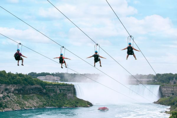 La tyrolienne au dessus des chutes du Niagara