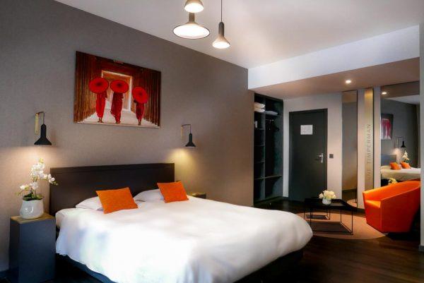 Une chambre de l'hôtel Atlas de Bruxelles