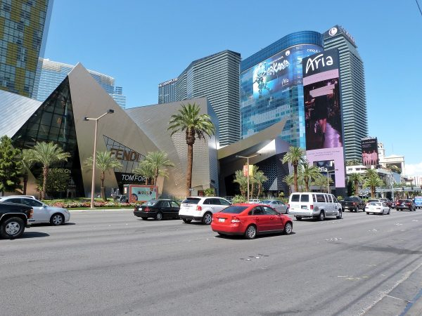 La circulation sur le strip de Las Vegas
