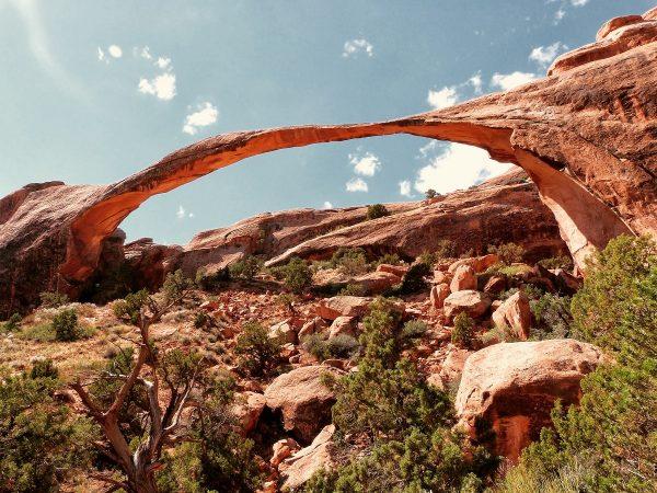 La Landscape Arch du Arches National Park : l'arche naturelle la plus longue au monde