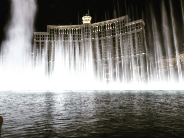 Les fontaines du Bellagio à Las Vegas