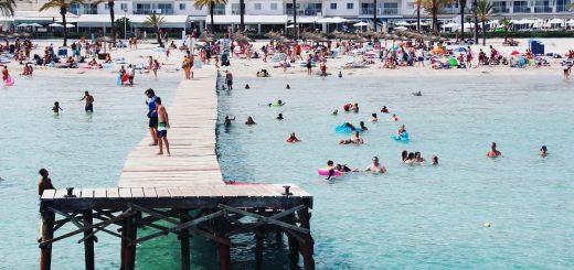 Plage dans la baie d'Alcudia - Majorque