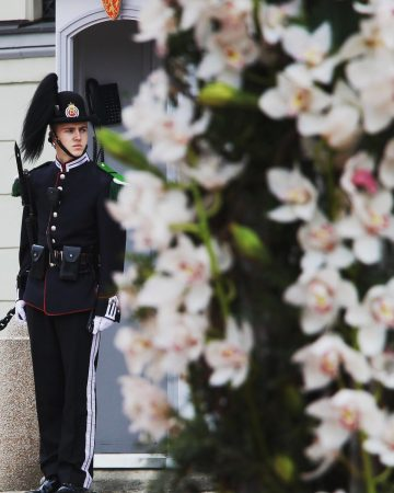 La garde devant le palais royal d'Oslo