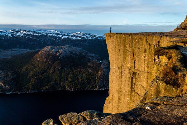 Le Pulpit Rock au lever du soleil