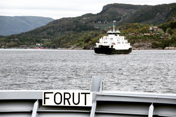Sur le ferry en Norvège