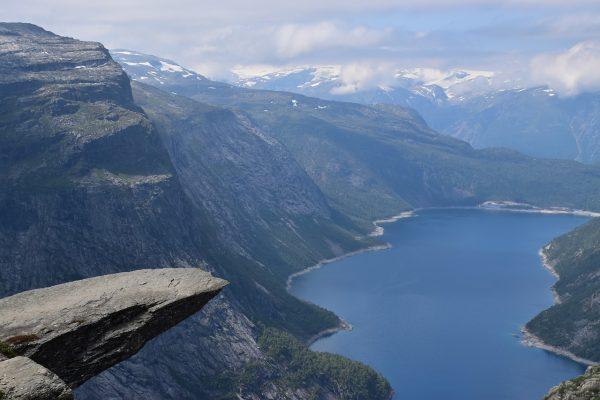 Le Trolltunga en Norvège