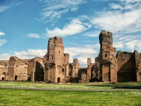 Les thermes de Caracalla, à Rome, un site antique bien conservé