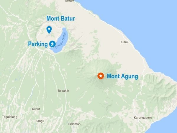 Carte du Mont Batur