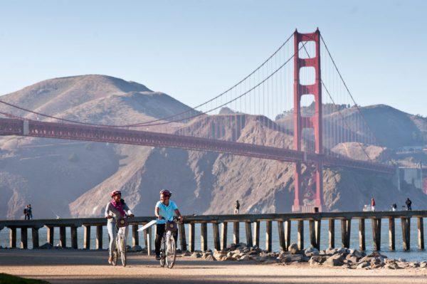 Golden Gate ensoleillé