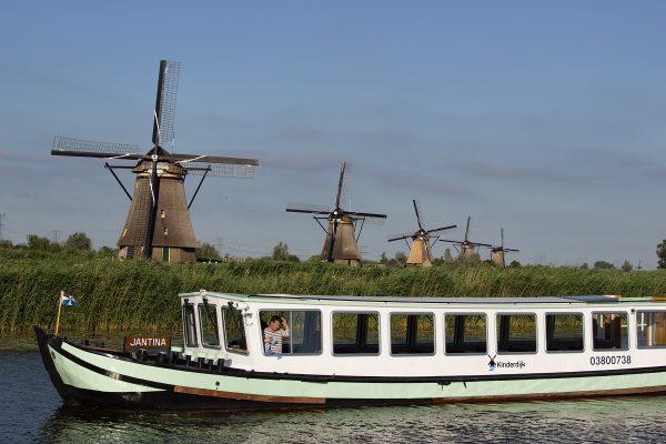 Promenade en bateau à Kinderdijk