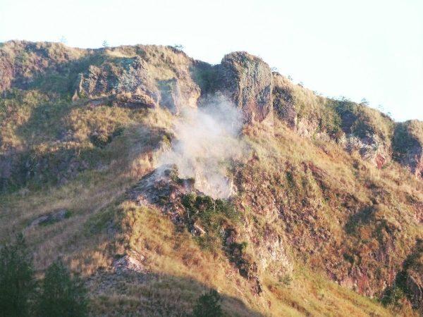 Le sommet du Mont Batur à Bali