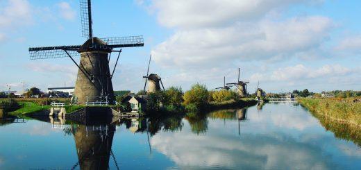 Moulins de Kinderdijk aux Pays-Bas