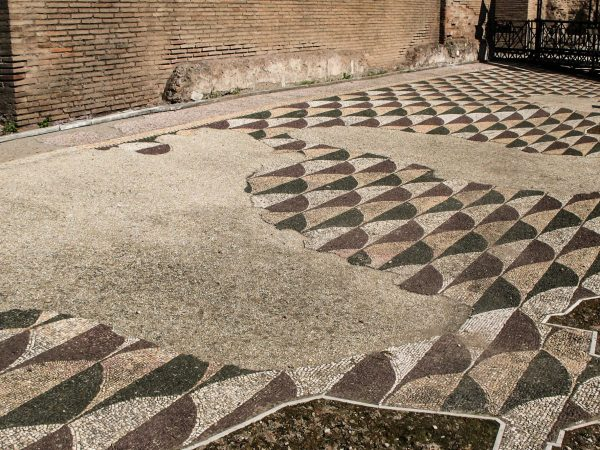 Les mosaïques dans les thermes de Caracalla