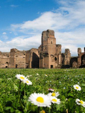 Le parc des thermes de Caracalla