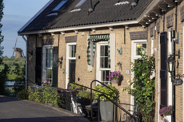 Dans le village de Kinderdijk