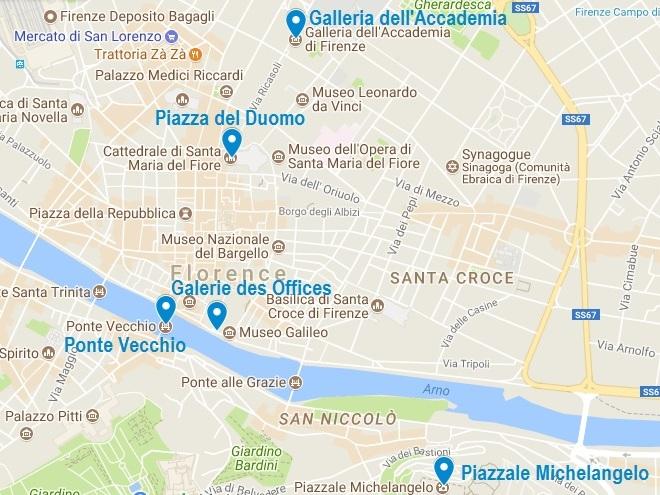 Carte Des Incontournables A Florence