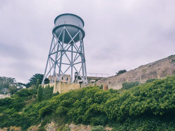 Citerne dans la prison d'Alcatraz