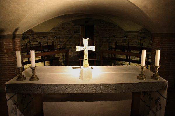 Dans la crypte de la cathédrale de Florence