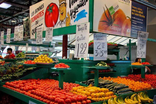 Le marché Jean Talon à Montréal