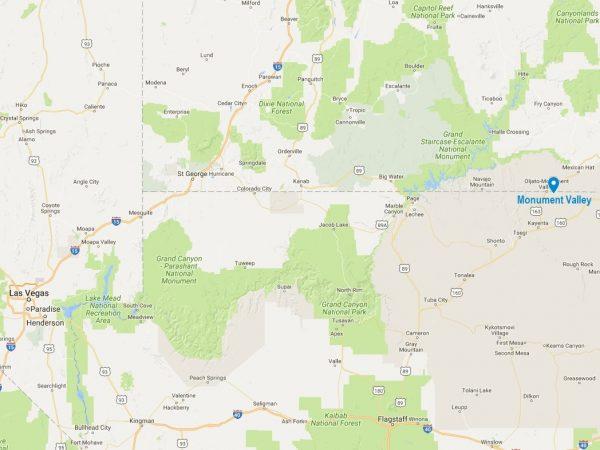 La Monument Valley, à la frontière de l'Arizona et de l'Utah