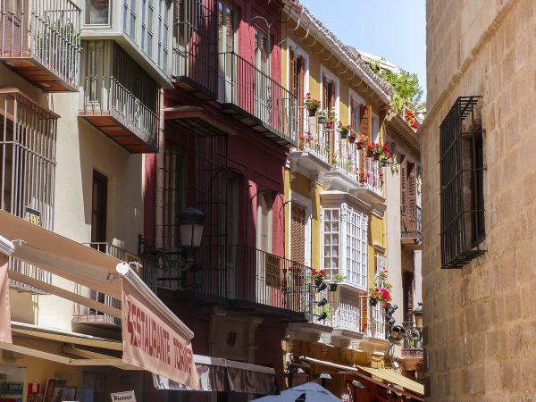 Dans le centre-ville de Malaga