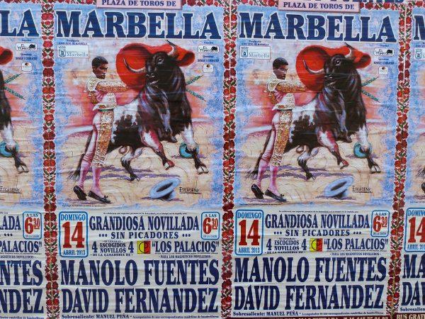 Affiche de corrida à Marbella