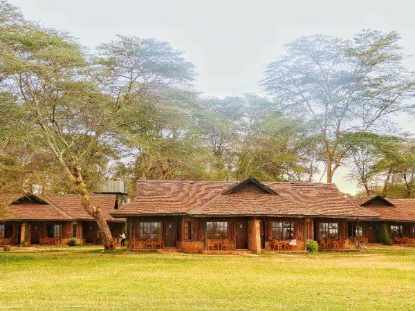 L'Ol Tukai Lodge dans le parc national d'Amboseli