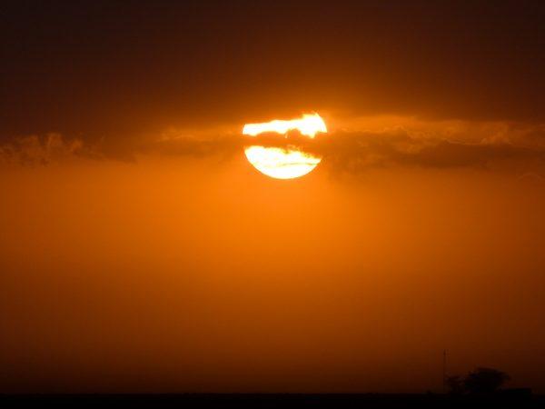 Coucher de soleil sur Amboseli
