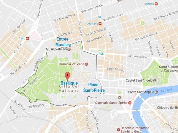 Carte d'accès pour visiter le Vatican