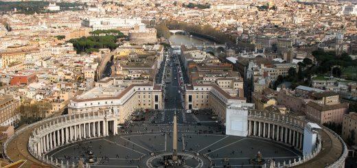 Visiter le Vatican : Vue depuis la coupole de basilique Saint-Pierre