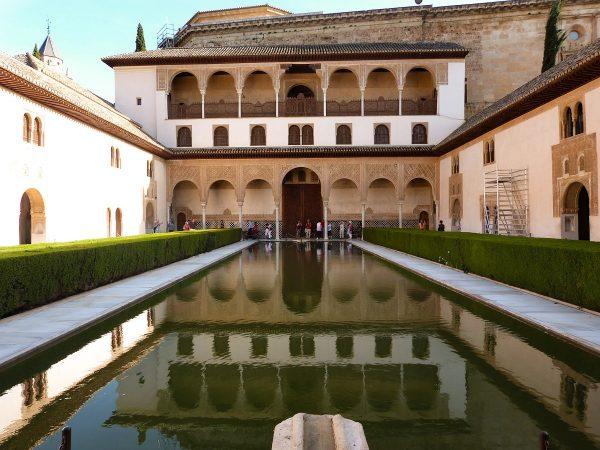 Dans les palais Nasrides, dans l'Alhambra à Grenade