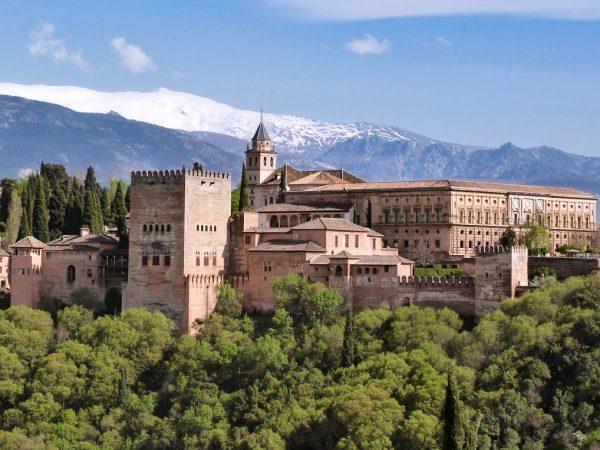 La vue sur l'Alhambra depuis le Mirador de San Nicolás , dans Grenade