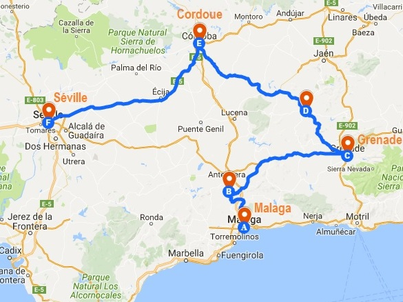 Carnet de voyage en Andalousie : mon itinéraire sur une semaine