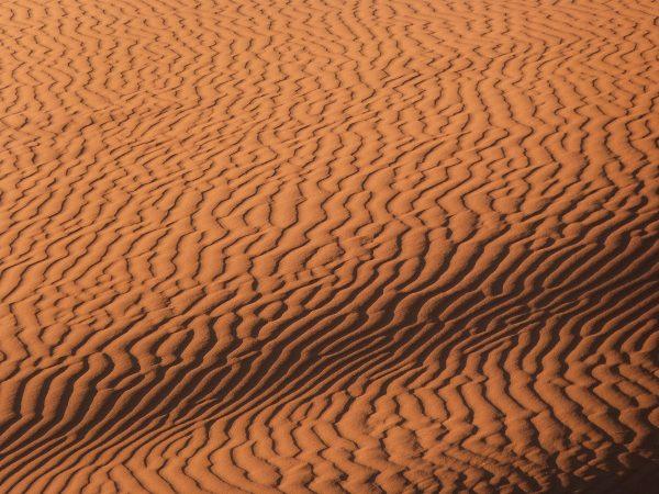 Les sillons sur les dunes de Merzouga