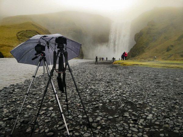 La cascade de Skogafoss en Islande