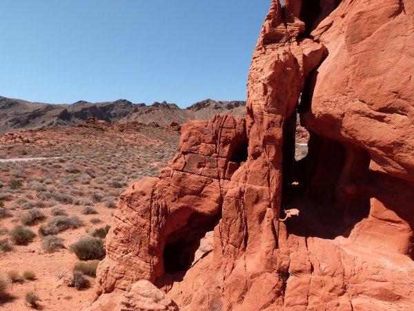 Paysage dans la Valley Of Fire, dans le Nevada