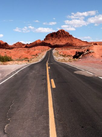 La route qui traverse la Valley of Fire