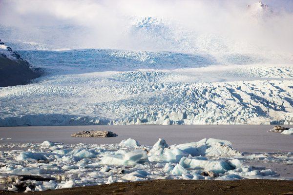 Le glacier de Fjallsarlon en Islande