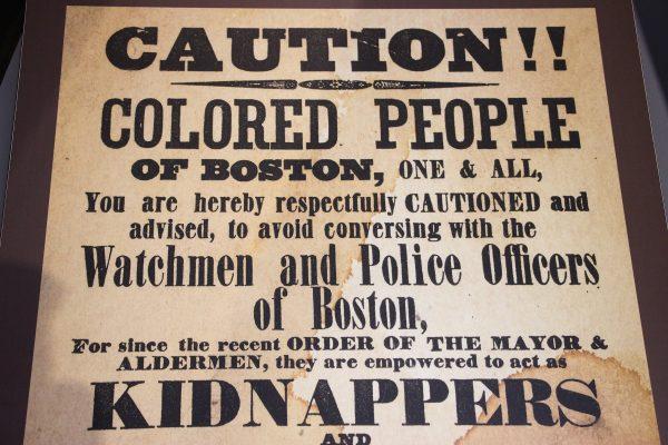 Une ancienne affiche, visible lors de la visite du musée d'Ellis Island