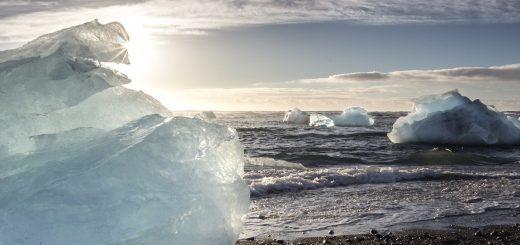 La diamond beach dans le sud de l'Islande