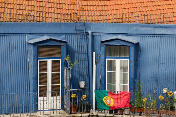 Une façade colorée à Lisbonne