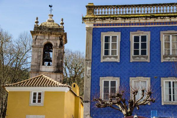 De belles façades colorées dans le centre de Sintra