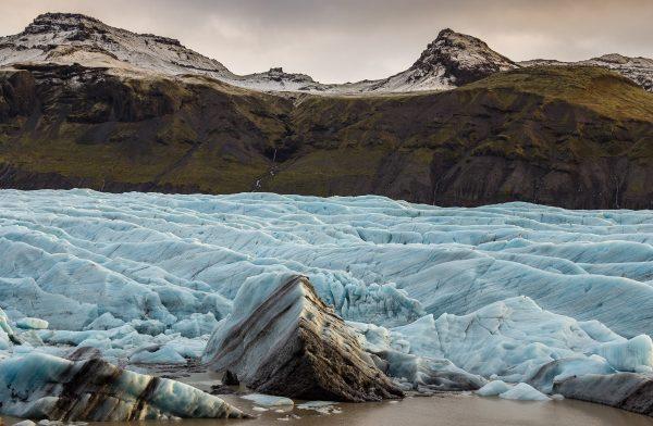 Le glacier de Svinafellsjökull en Islande