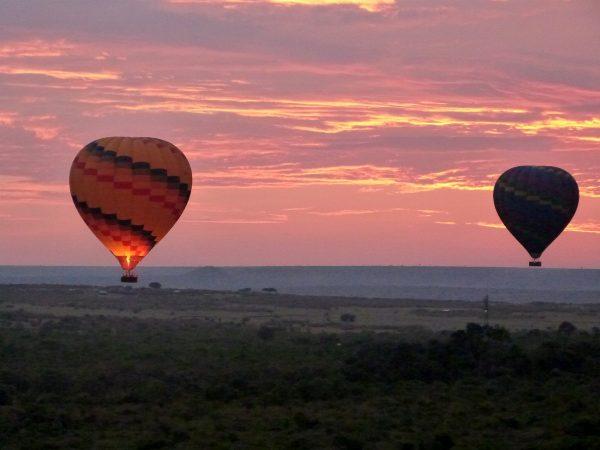 Montgolfières dans le ciel du Masai Mara